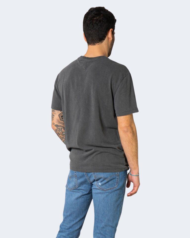 T-shirt Tommy Hilfiger Jeans TONAL FLAG Nero - Foto 3