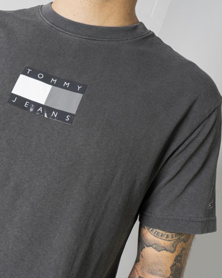 T-shirt Tommy Hilfiger Jeans TONAL FLAG Nero - Foto 4