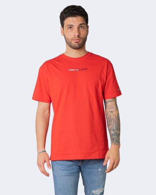 T-shirt Tommy Hilfiger LINEAR Rosso – 64865