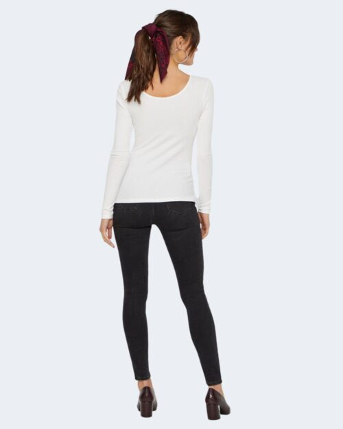 T-shirt manica lunga Pieces Kitte LS Top Noos BC Color Bianco - Foto 4