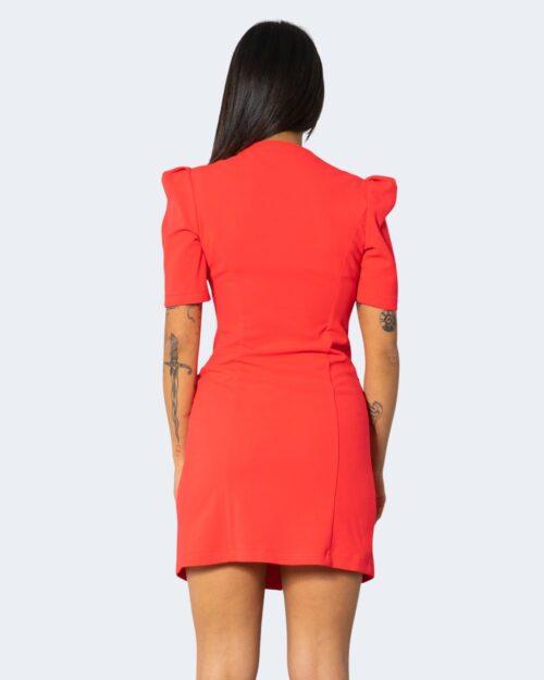 Vestito corto Rinascimento CON BOTTONI Corallo – 71935