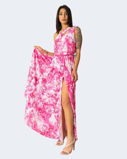 Vestito lungo Rinascimento MONOSPALLA Rosa – 71576