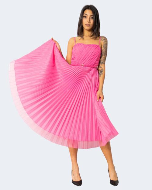 Vestito midi Rinascimento BUBBLE PINK Fuxia – 71575
