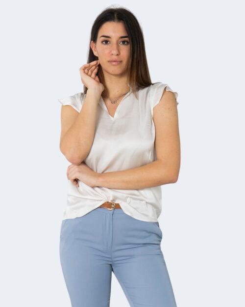 Blusa manica corta Rinascimento TINTA UNITA Bianco – 72756