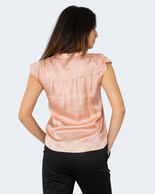 Blusa manica corta Rinascimento TINTA UNITA Rosa – 72756
