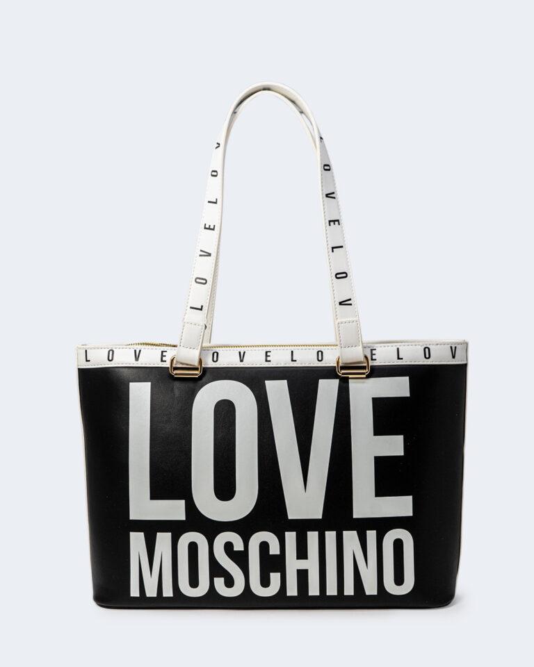 Borsa Love Moschino CONTORNO STAMPA LOGO Nero - Foto 1