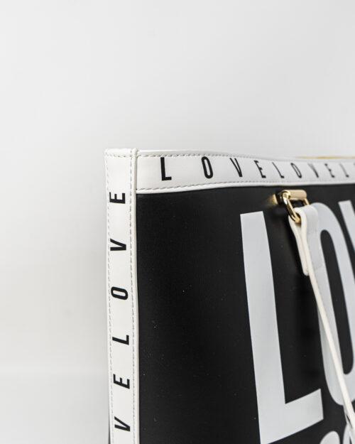 Borsa Love Moschino CONTORNO STAMPA LOGO Nero - Foto 4