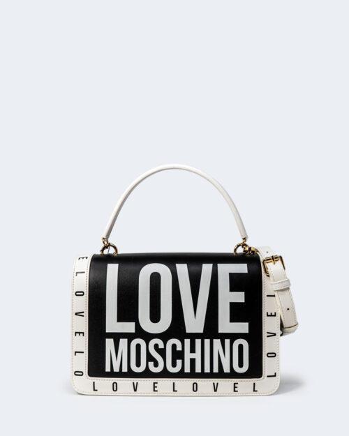 Borsa Love Moschino STAMPA LOGO CENTRALE GRANDE Nero – 72629