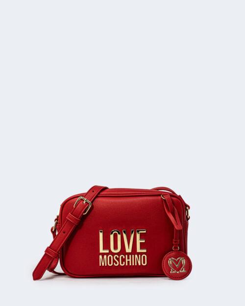 Borsa Love Moschino Camera bag Gold Metal Logo Rosso – 72394