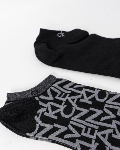 Calzini corti Calvin Klein LINER 2P MULTILOGO Nero – 73009