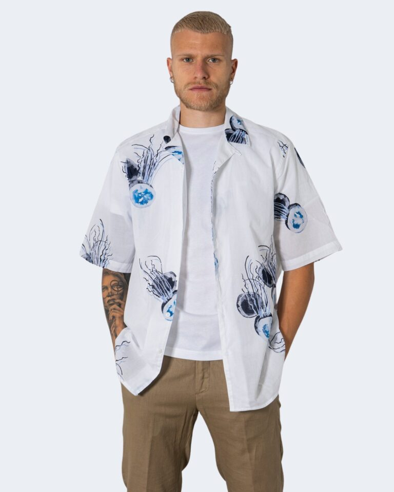 Camicia manica corta Only & Sons ONSKEYO LIFE SS RELAXED AOP SHIRT - 22019773 Bianco - Foto 1