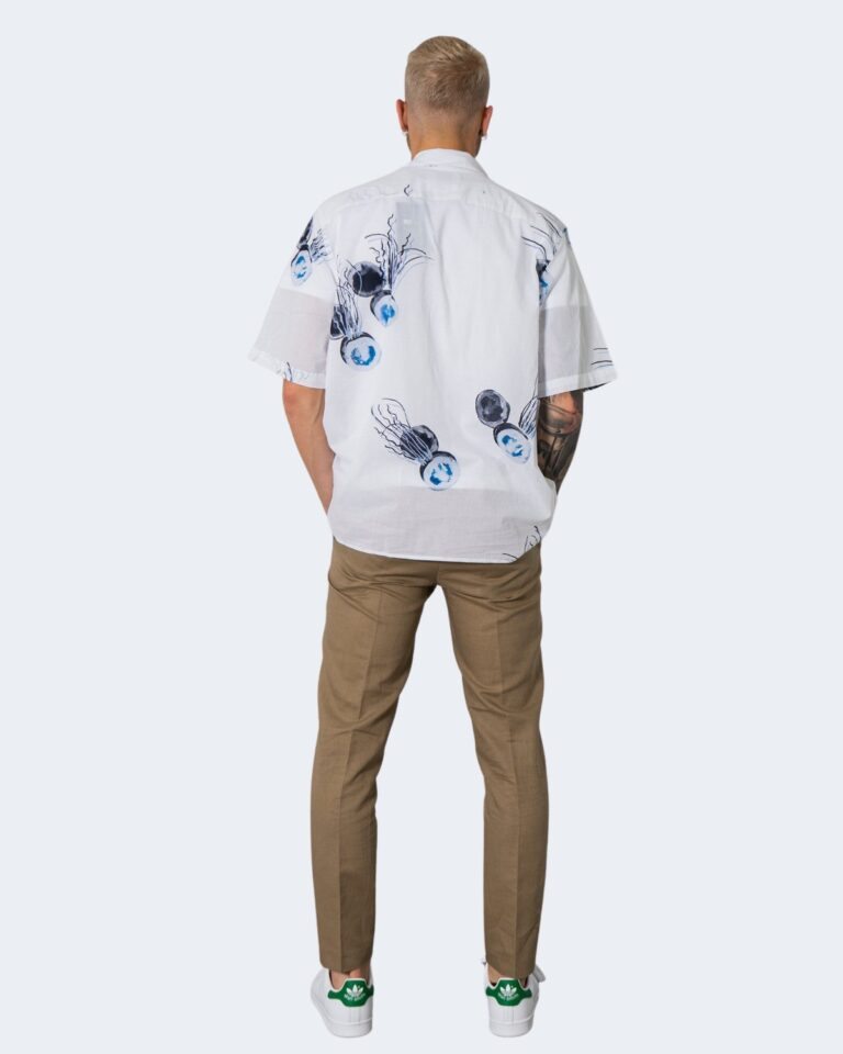 Camicia manica corta Only & Sons ONSKEYO LIFE SS RELAXED AOP SHIRT - 22019773 Bianco - Foto 2