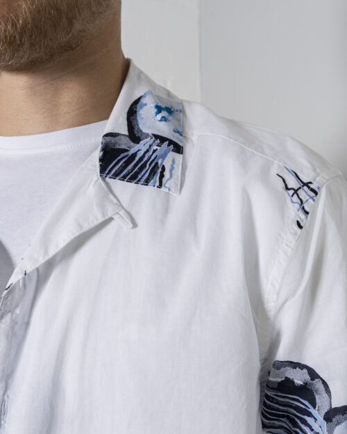 Camicia manica corta Only & Sons ONSKEYO LIFE SS RELAXED AOP SHIRT - 22019773 Bianco - Foto 3