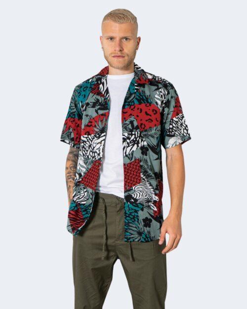 Camicia manica corta Only & Sons ANIMAL Blu – 72915