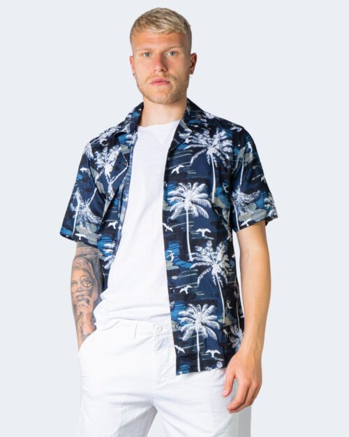 Camicia manica corta Only & Sons PALM Blu - Foto 1
