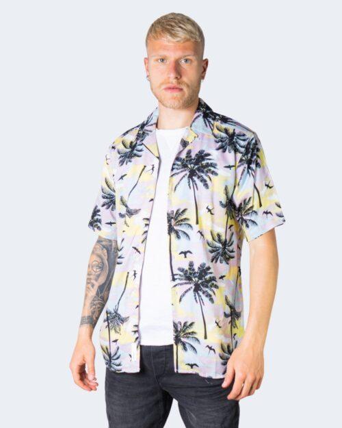 Camicia manica corta Only & Sons PALM Rosa - Foto 1