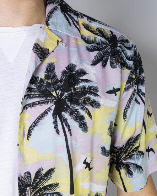 Camicia manica corta Only & Sons PALM Rosa - Foto 4