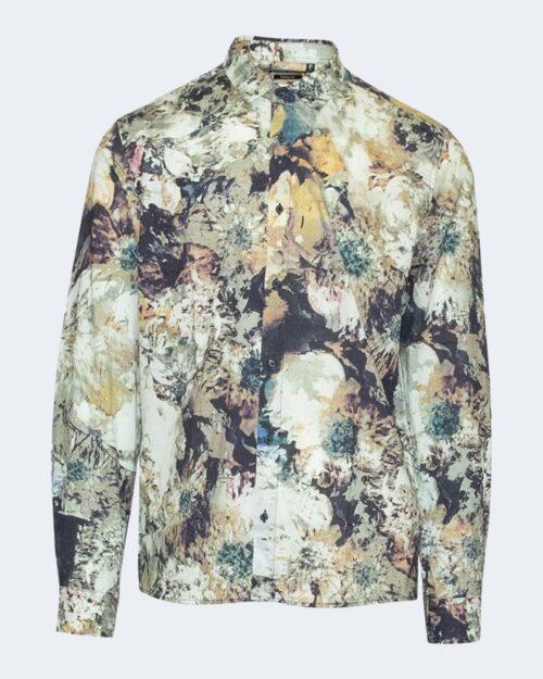 Camicia manica lunga Antony Morato STRAIGHT FIT FLOREALE Bianco - Foto 1