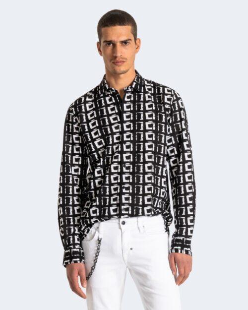 Camicia manica lunga Antony Morato STRAIGHT FIT Nero - Foto 1