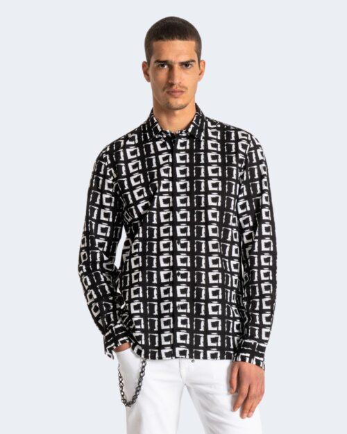 Camicia manica lunga Antony Morato STRAIGHT FIT Nero - Foto 2