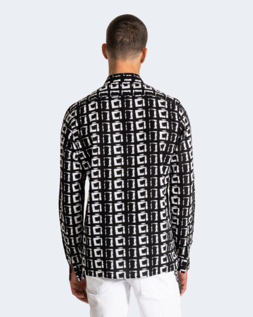 Camicia manica lunga Antony Morato STRAIGHT FIT Nero - Foto 3