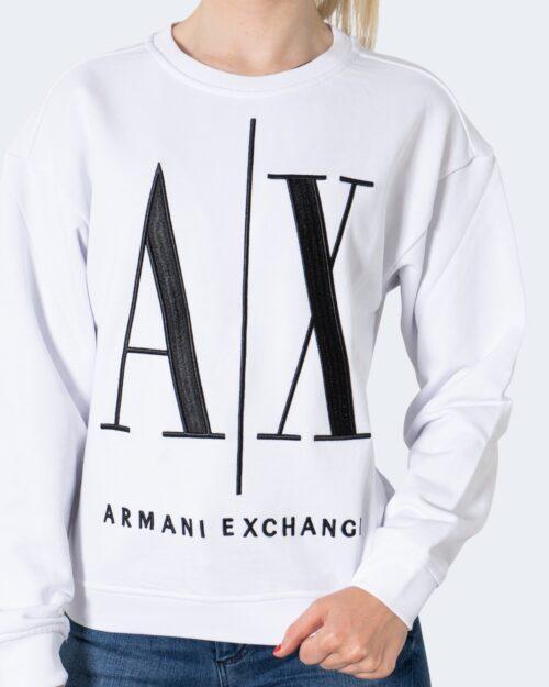 Felpa senza cappuccio Armani Exchange SWEATSHIRT Bianco – 65155
