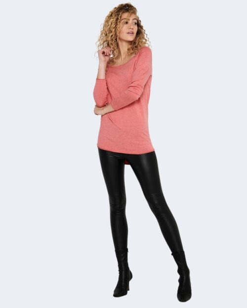 Maglia Only MILA LACY L/S LONG PULLOVER NOOS Rosa – 72805