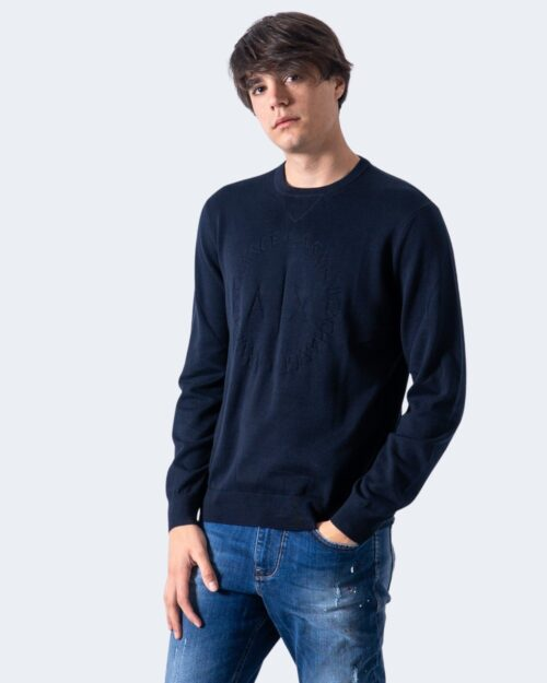 Maglione Armani Exchange Pullover Knitted Blu – 40668