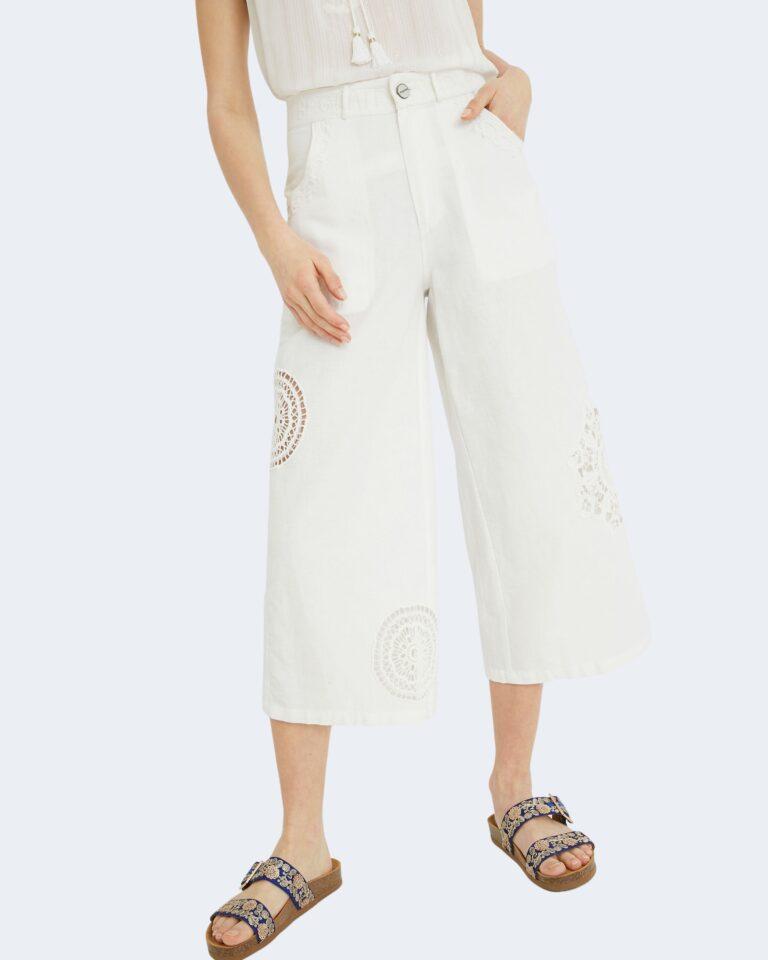 Pantaloni a palazzo Desigual BRASILIA Bianco - Foto 1