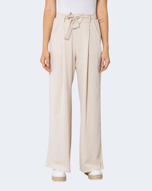 Pantaloni a palazzo One.0 TINTA UNITA Beige – 72563