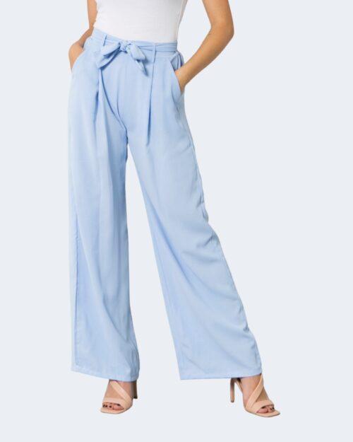Pantaloni a palazzo One.0 TINTA UNITA Celeste – 72563