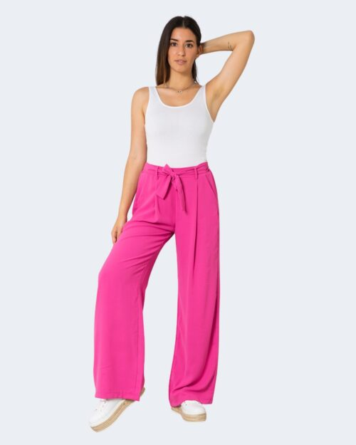 Pantaloni a palazzo One.0 TINTA UNITA Fuxia – 72563