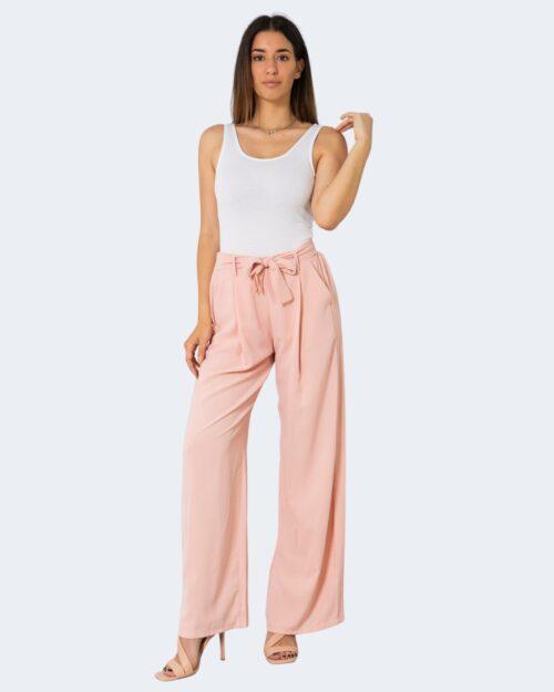 Pantaloni a palazzo One.0 TINTA UNITA Rosa – 72563
