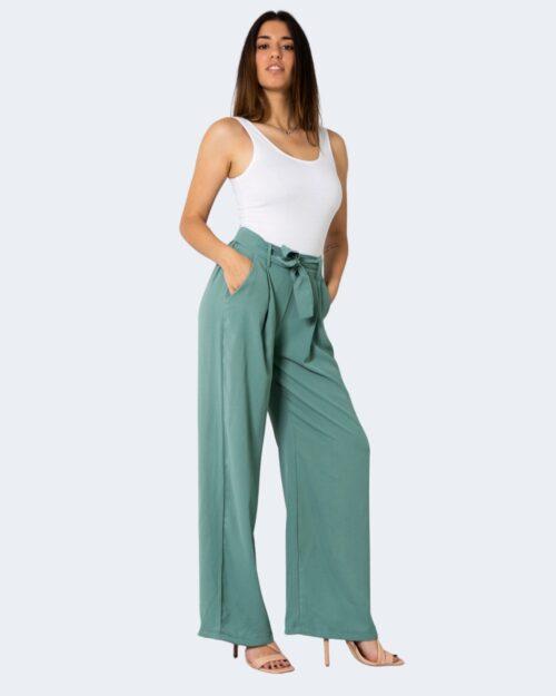 Pantaloni a palazzo One.0 TINTA UNITA Verde – 72563
