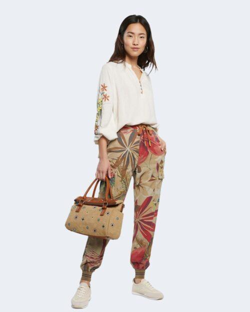 Pantaloni Desigual TOUCHE Beige scuro - Foto 1