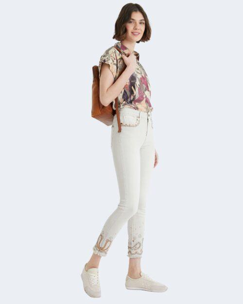 Pantaloni super skinny e skinny Desigual ANKLE PAISLEY Panna – 65599