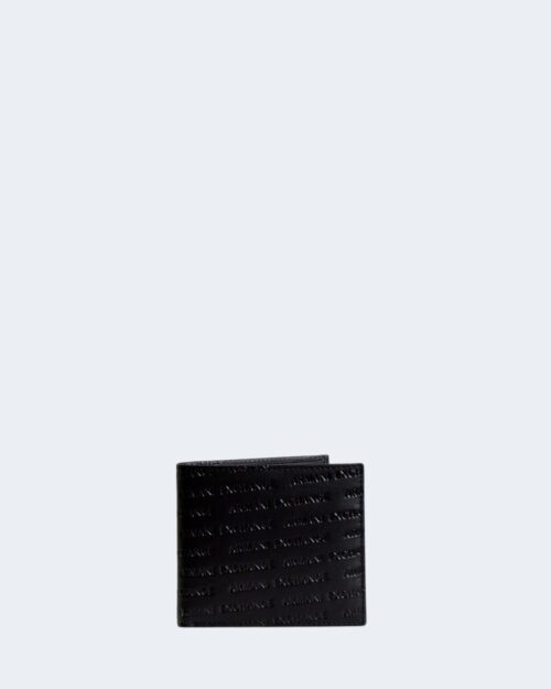 Portafoglio con portamonete Armani Exchange BIFOLD COIN POCKET WALLET Nero – 42144