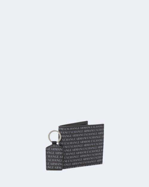 Portafoglio senza portamonete Armani Exchange SET PORTAFOGLIO E PORTACHIAVI Nero – 21498