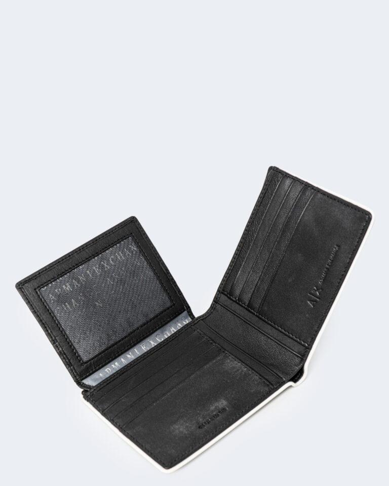 Portafoglio senza portamonete Armani Exchange BORDO BIANCO Nero - Foto 3