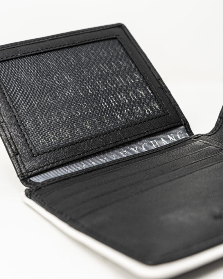 Portafoglio senza portamonete Armani Exchange BORDO BIANCO Nero - Foto 4