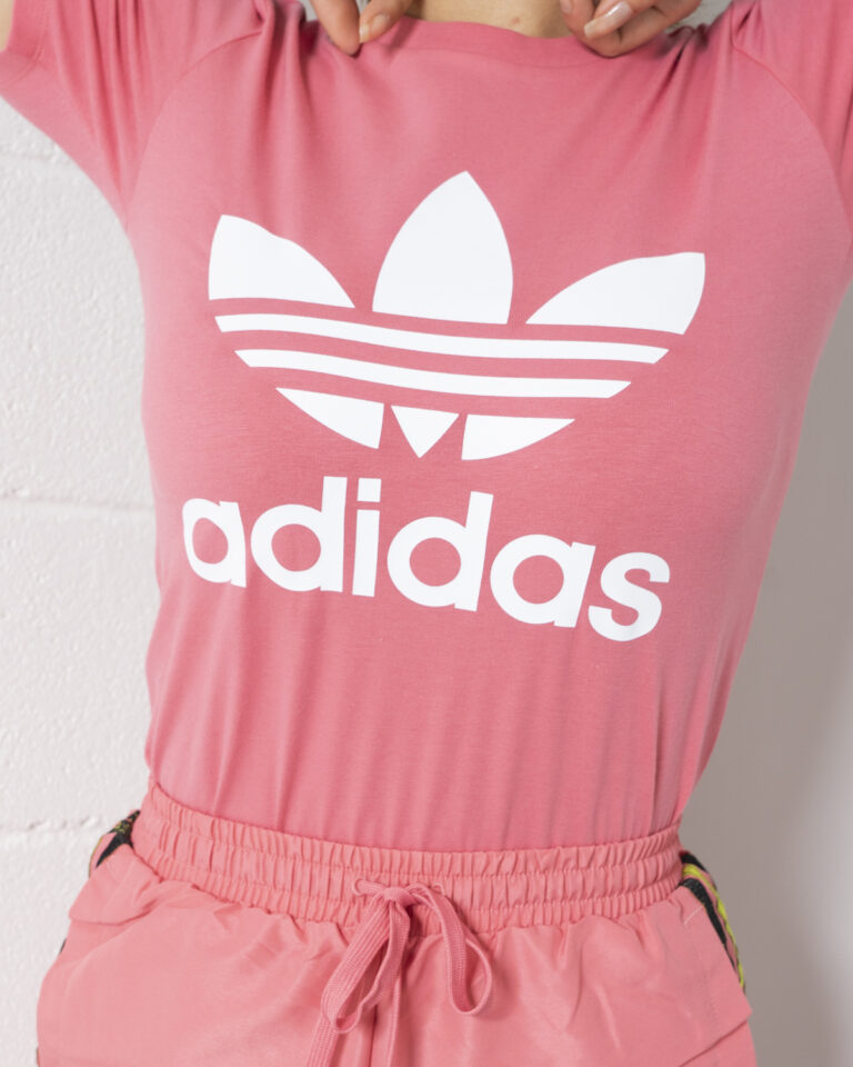T-shirt Adidas TREFOIL TEE Rosa - Foto 4