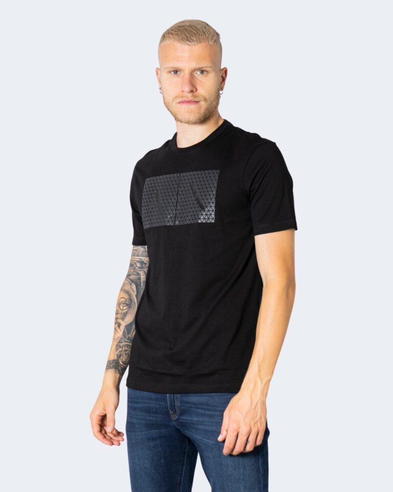 T-shirt Armani Exchange TINTA UNITA LOGO GOMMATO Nero - Foto 1