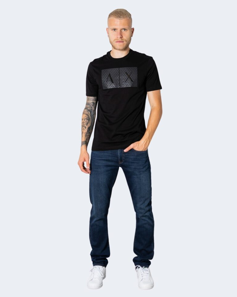 T-shirt Armani Exchange TINTA UNITA LOGO GOMMATO Nero - Foto 2