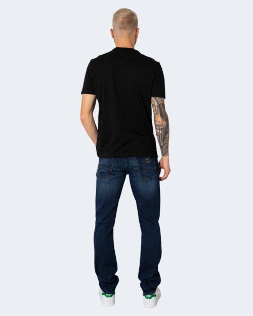 T-shirt Armani Exchange TINTA UNITA LOGO GOMMATO Nero - Foto 4