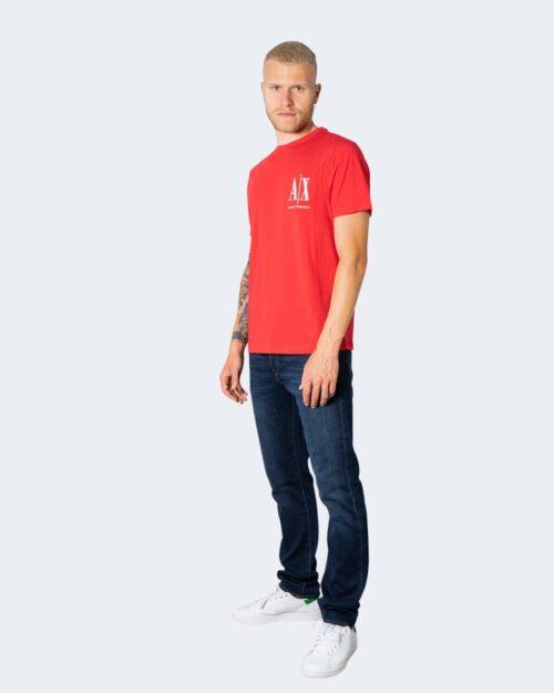 T-shirt Armani Exchange LOGO RICAMO Rosso – 71530
