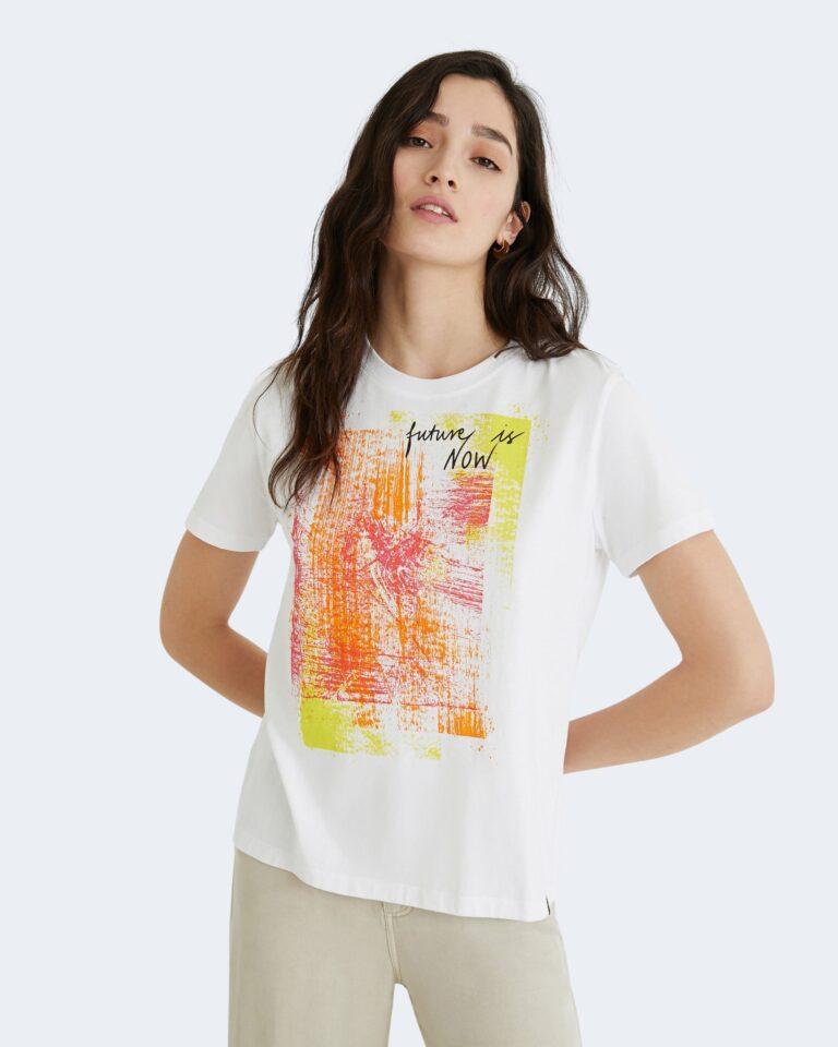 T-shirt Desigual AMSTERDAM Bianco - Foto 1