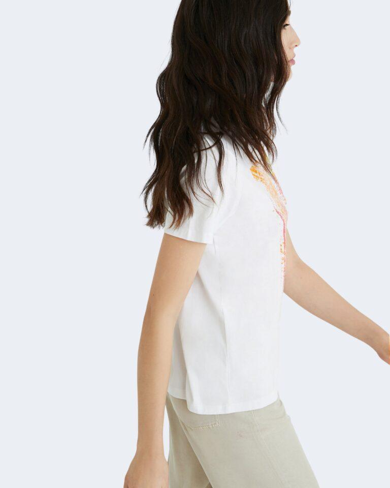 T-shirt Desigual AMSTERDAM Bianco - Foto 3