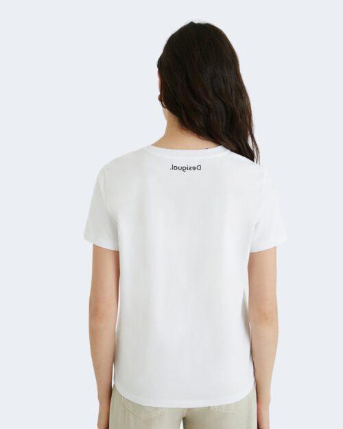 T-shirt Desigual AMSTERDAM Bianco - Foto 4
