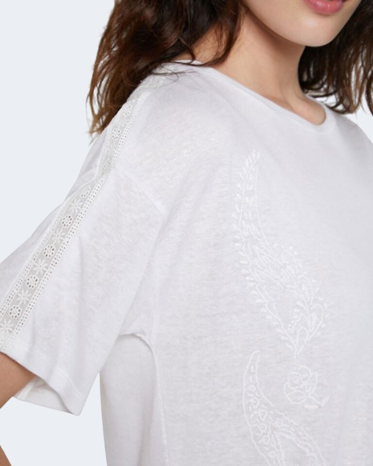 T-shirt Desigual CLEMENTINE Bianco - Foto 3