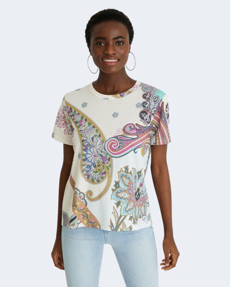 T-shirt Desigual POPASLEY Bianco - Foto 1